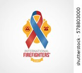 international fire fighter day... | Shutterstock .eps vector #578803000