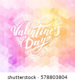 happy valentines day. hand... | Shutterstock .eps vector #578803804