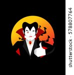 dracula thumbs up shows well.... | Shutterstock . vector #578807764