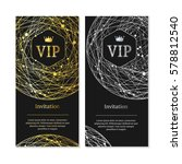 vip invitation and card... | Shutterstock .eps vector #578812540