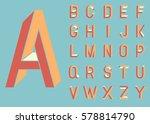 impossible shape font. memphis... | Shutterstock .eps vector #578814790