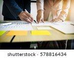 team work process. young... | Shutterstock . vector #578816434