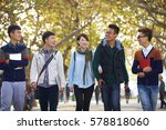 group of happy asian college... | Shutterstock . vector #578818060