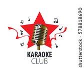 vector logo karaoke | Shutterstock .eps vector #578818690