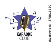 vector logo karaoke   Shutterstock .eps vector #578818930