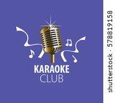 vector logo karaoke | Shutterstock .eps vector #578819158
