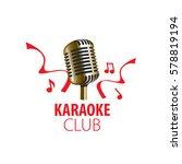 vector logo karaoke | Shutterstock .eps vector #578819194