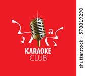 vector logo karaoke | Shutterstock .eps vector #578819290