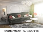zero gravity sofa hovering in... | Shutterstock . vector #578820148