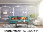 interior with sofa. 3d... | Shutterstock . vector #578820544