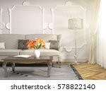 interior with sofa. 3d... | Shutterstock . vector #578822140