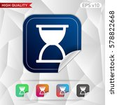 hourglass icon. button with...