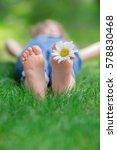 Happy Feet Outdoors. Kid Havin...