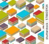 seamless pattern of new 3d... | Shutterstock .eps vector #578835934