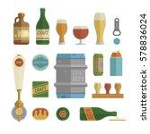craft beer items set. differens ...   Shutterstock .eps vector #578836024