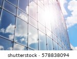 the sun and the sky in a glass... | Shutterstock . vector #578838094