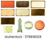 collection of retro frame or... | Shutterstock . vector #578838328