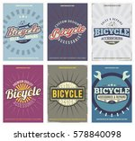 bicycle vintage set with 6... | Shutterstock .eps vector #578840098