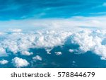 sky from a plane clean air    Shutterstock . vector #578844679