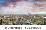 Sunset Aerial Panoramic View London - Fine Art prints