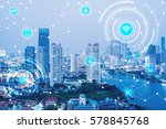 icons of wifi  internet ...   Shutterstock . vector #578845768