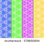 set of floral geometric...