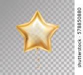 gold star balloon on...   Shutterstock .eps vector #578850880