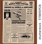 old newspaper  vintage... | Shutterstock .eps vector #578850928