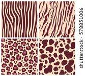 set safari jungle animal fur... | Shutterstock .eps vector #578851006