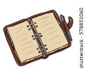 vector single cartoon brown... | Shutterstock .eps vector #578851060