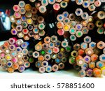 bunch of pencil color | Shutterstock . vector #578851600