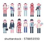 people character vector... | Shutterstock .eps vector #578853550