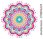 mandala. vector ethnic oriental ... | Shutterstock .eps vector #578856229