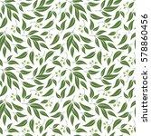 seamless green leaf pattern.... | Shutterstock .eps vector #578860456