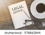 concept legal advice message on ...   Shutterstock . vector #578862844