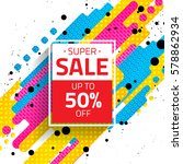 sale sign with abstract... | Shutterstock .eps vector #578862934