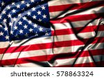 American Flag   Waving Fabric