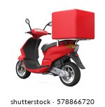 motorcycle delivery box. 3d...   Shutterstock . vector #578866720