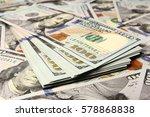 Business Dollar Money On White...