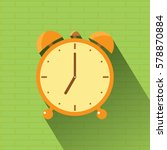 orange clock icon  7 o'clock... | Shutterstock .eps vector #578870884