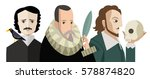 three great writers from all... | Shutterstock .eps vector #578874820