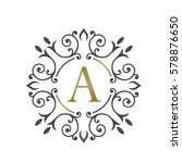 black sprout initial a logo... | Shutterstock .eps vector #578876650