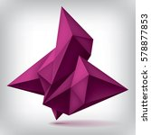 volume geometric shape  3d... | Shutterstock .eps vector #578877853