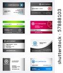 set of 8 metallic themed... | Shutterstock .eps vector #57888103