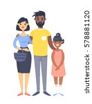 young couple with daughter....   Shutterstock .eps vector #578881120