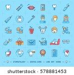 stomatology icon dental care... | Shutterstock .eps vector #578881453