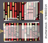 brochure template with abstract ... | Shutterstock .eps vector #578883214