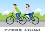 couple of man and woman are... | Shutterstock .eps vector #578885326