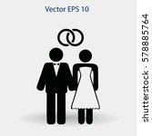 marriage vector icon | Shutterstock .eps vector #578885764