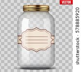 big glass jar for canning and... | Shutterstock .eps vector #578885920